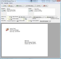 A screenshot of the program Envelope Printer 1.0